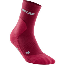 cep cold weather Mid Cut Socks Women, rosso